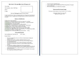 security guard proposal template template examples