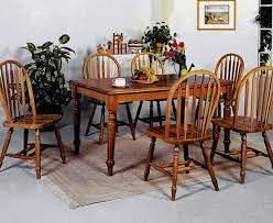 Farmhouse Dark Oak Dining Table And  Side Chairs Cincinnati - Oak dining room set