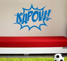 comic style kapow superhero boys bedroom wall art
