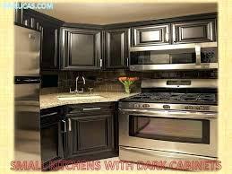 glass tile backsplash with dark cabinets backsplash ideas for dark cabinets vibehub co