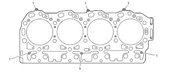 6 6l lbz lb7 lly duramax diesel engine cylinder head gasket