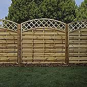 Curved Trellis Fence Panels Fence Panels U0026 Fencing Tesco