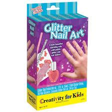 amazon com creativity for kids glitter nail art mini kit toys