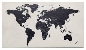 Algeria World Map Contemporary Wall Art Quality From Boconcept