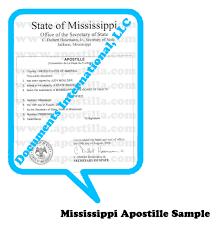 Mississippi travel documents images Mississippi apostille png