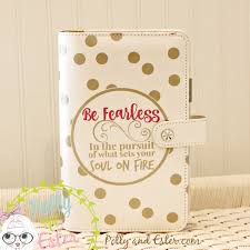 quote cards for planner planner quote be fearless personal planner notebook binder