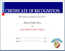 6 certificate of recognition templates certificate templates