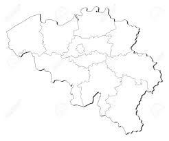 Blank Political Map Of Europe by Political Map Of Belgium With The Several States Royalty Free
