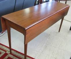 Drop Leaf Console Table Free Living Rooms Kincaid Meeting House Cherry Shaker Style Drop