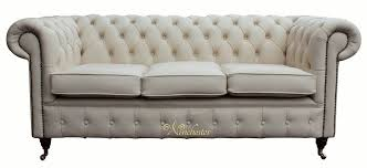 3 Seater Cream Leather Sofa Chesterfield 3 Seater Ivory Leather Sofa Offer