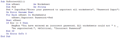 On Error Resume Next Javascript Protect Unprotect Multiple Worksheets U003c Thought Sumproduct Are