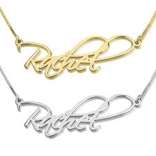 14kt gold name necklace name necklaces