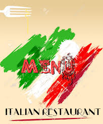 menu design for italian restaurant free space for your logo