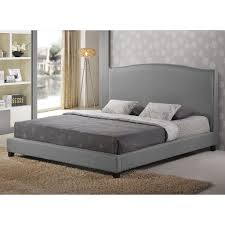 amazon com baxton studio aisling fabric platform bed king gray