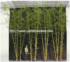 customized artificial tree leaves bamboo in outdoor decoration
