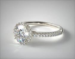 white gold halo engagement rings halo engagement ring 18k white gold 17036w