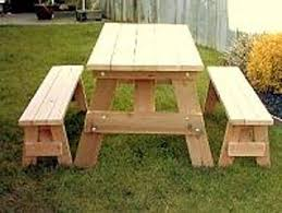 picnic table plans detached benches 5 foot redwood picnic table with separate benches