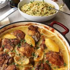 cuisine bordelaise chicken with orleans spaghetti bordelaise emerils com