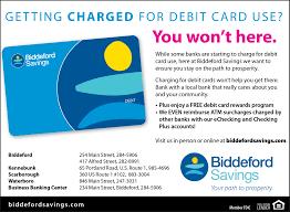 business debit cards southern maine biddeford savings bank