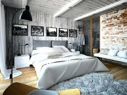 chambre style loft deco style loft deco loft chamabre bedroom wall brick grayish wood