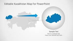kazakhstan map city highlight for presentation slidemodel