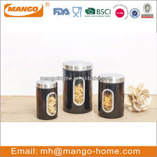 100 black kitchen canister set decorating with glass