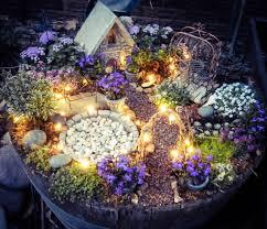 magical lights in the fairy garden little tudor on the prairie