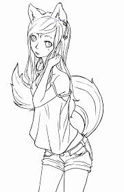 photos anime fox coloring pages cute anime chibi cat