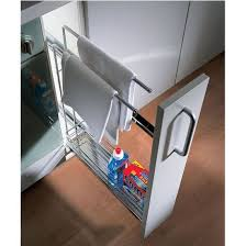 kitchen cabinet towel rail hafele kitchen base cabinet pull out organizer with towel rail