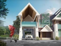 Rajasthani Home Design Plans Architectural Rendering Rajasthan 3d Power