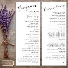 wedding program designs printable wedding program design pdf the isabelle collection