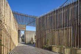beautiful bamboo house construction ith large size modern bamboo