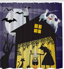 witch u0027s brew halloween fabric shower curtain contemporary