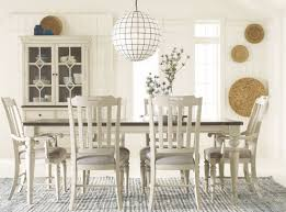 Legacy Dining Room Furniture Brookhaven Vintage Linen And Rustic Elm Extendable Leg Dining