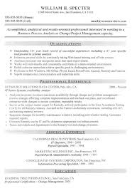 Example Of It Resume by Cv Format For Business Analyst