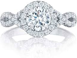 twisted band engagement ring tacori twist pave engagement ring ht2549rd