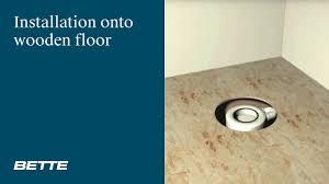 installation bettefloor shower tray onto wooden floor youtube installation bettefloor shower tray onto wooden floor bette germany