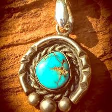real turquoise pendant necklace images Jewelry vintage navajo sterling turquoise pendant necklace jpg