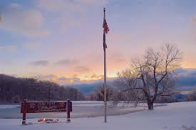 free photo snow winter cold tree park flag pole max pixel
