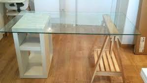 verre pour bureau bureau en verre alinea table de bureau en verre exceptionnel plateau