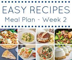 easy dinner recipes meal plan week 9 kleinworth u0026 co