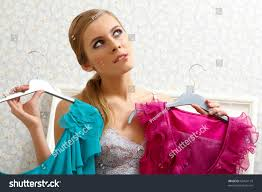 pretty new years dresses image pretty thinking what dress stock photo 63431119