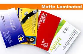 Matt Laminated Business Cards Aladdin Print
