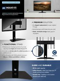 How High To Mount 50 Inch Tv On Wall Amazon Com Mount It Universal Tv Swivel Stand Tabletop Tv Mount