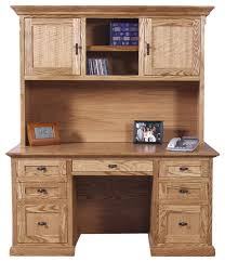 mission desk and hutch traditional desks and hutches by oak