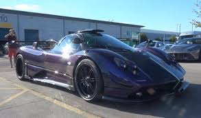 blue pagani zonda redesigned one off purple pagani zonda 760 rs spotted