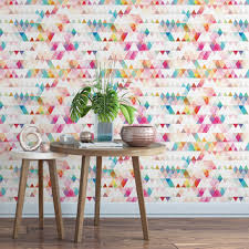 abstract triangle removable wallpaper cute self adhesive