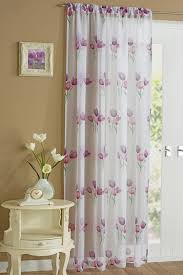 tulip voile panel in purple free uk delivery terrys fabrics