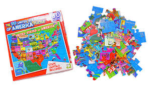 United States Of Anerica Map by Amazon Com United States Of America Usa Map 60 Piece Jigsaw