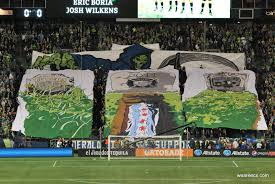 Timbers Flag Portland Timbers Giant Tifo Throws Down Gauntlet To Seattle